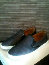 £295 100% Authentic Jimmy Choo Demi Dark Denim Slip-On Shoes UK 4 EU 37