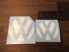 WHITE MK7 GOLF GTI VOLKSWAGEN VW FRONT & REAR EMBLEM INLAY
