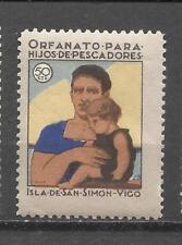5450-RARA VIÑETA MNH**HUERFANOS D PESCADORES ISLA DE SAN SIMON VIGO,GUERRA CIVIL