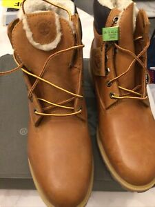TIMBERLAND NEW LEATHER TAN BOOTS UK ADULT 10 £139 Last Pair