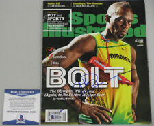 USAIN BOLT Hand Signed SPORTS ILLUSTRATED + BECKETT COA  PSA DNA *BUY GENUINE*