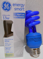 Lot of 2 New GE Blue 60W Equivalent = 13-Watt Mini CFL Party Light Bulbs