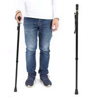 Canna Regolabile Altezza Piega Bastone Da Passeggio Per Gli Anziani Passeggiata
