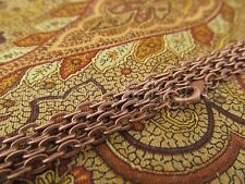 10 Antique Copper Necklaces - 24 Inch Rolo Chain - Jewelry Findings Crafts 24""