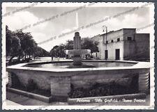 TRAPANI PARTANNA 03 VILLA GARIBALDI - FONTANA Cartolina FOTOGRAFICA viagg. 1959