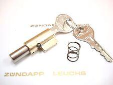 Zündapp Lenkschloss 8mm Bolzen mit 2 Schlüssel + Druckfeder ZD 20 25 30 40 50
