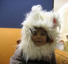 White Fluffy Kitten / Cat Hat and Tail Costume Age 3-8