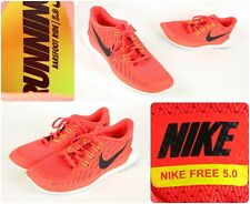 Nike Free 5.0 Men's Sz 14 Training Running Shoes Bright Crimson / Orange / Black