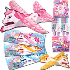 Magical Unicorn Glider Planes HGL Girls Birthday Party Bag Fillers 1 6 12 24 48 6