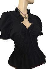 Damenblusen,-Tops & -Shirts mit Baumwollmischung ohne Muster für Business