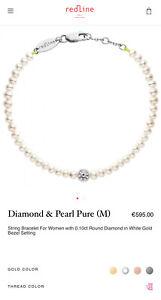 Redline 18k Rose Gold Diamond And Pearl Pure M Bracelet Ylang 23 $723