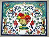 "Ceramic tile art Mosaic wall mural Panel Fruit floral BACKSPLASH  24"" x 18"""