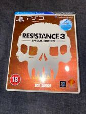 Resistance 3 Special Steelbook Edition VGC PS3 PLAYSTATION 3 Game Complete