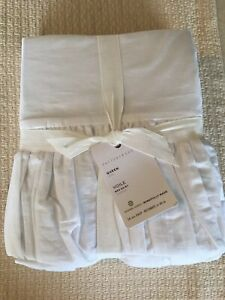Pottery Barn VOILE Ruffle Queen Bed Skirt Gorgeous White
