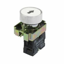 22mm 1 NO N/O White Sign Momentary Push Button Switch 600V 10A ZB2-BA3341