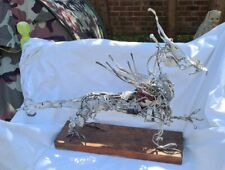 More details for bespoke made metal dragon with red stone insert ,length approx 86cm