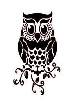 Owl Bird Wine Bottle Vinyl Decal