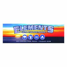 1x Pack Elements 1.25 Ultra Thin Rice Rolling Papers 50 Leaves per Pack 1 1/4