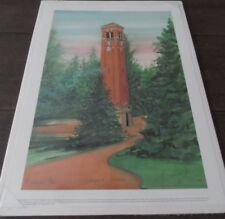 "P BUCKLEY MOSS  PRINT, "" Campanile Memories""  LIMITED EDITION,  #129/1000"