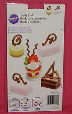 Dessert Accents Chocolate Candy Mold, Wilton, Clear Plastic,2115-2102
