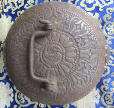 Antique Tibetan Master Quality Handmade Iron Box, Nepal