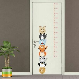 Height Measure Wall Number Kids Growth Chart Sticker Decal Nursery Cartoon Decor