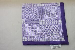 David Donahue Purple Geometric print Pocket Square $60