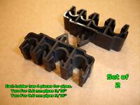 "Set of 2 Multi Plastic Brake Line Pipe Mounting Holder Clips 5mm 8mm 3/16"" 5/16"""