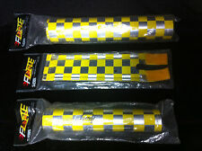Yellow Chrome ANODIZED BY FLITE FRAME STEM HANDLEBAR PAD SET Old School BMX Pads