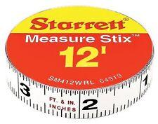 Measure Stix Steel White Measure Tape w/ Adhesive Backing English Graduation Sty