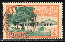 "New Caledonia 1941 4c with ""France Libre"" Opt Very Fine Used SG235"