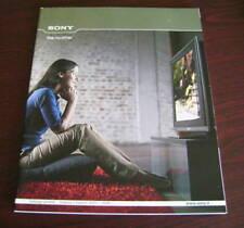 Catalogo Sony prodotti autunno inverno 2007 depliant brochure tv dvd home cinema