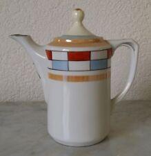 alte Kanne Kaffeekanne Kakaokanne Teekanne Farbmuster Porzellan old cocoa pot