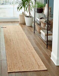 Rug 100% Natural Jute 2x6 Feet Handmade Carpet Runner Rug Floor Area modern rug