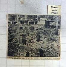 1960 Vast Building Project In Picadilly, Manchester, Rising From Foundations