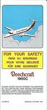 Safety Card - Beechraft - Beech 1900C - 1991 (S4037)