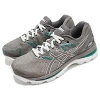 Asics Gel-Nimbus 20 Carbon Grey Green Women Running Shoes Sneakers T850N-020