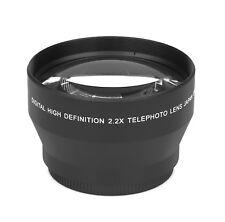 2.2x - 62mm HD Tele Vorsatzlinse Echtglas Marken Optik Vorsatz Linse Objektiv
