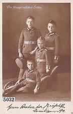 Alte Portraitkarte AK Kriegshilfe Söhne des Kronprinzen von Preußen in Uniform