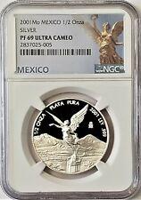 2001 Mexico Libertad Proof 1/2 oz. Silver NGC PF69 Ultra Cameo