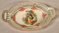 """VINTAGE PRE WWII 12""""X 7 1/2"""" RETICULATED PORCELAIN BOWL GERMANY"""