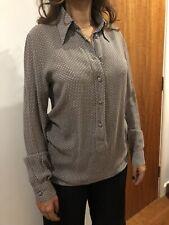 AJ Armani Jeans Vintage Ladies Shirt Blouse Pattern Brand New Women's Uk 12
