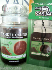 Yankee Candle Girl Scout Cookies THIN MINTS Lg 22 oz + Car Jar Air Freshener New