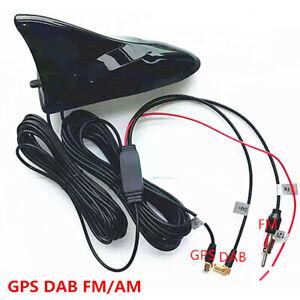 Car Roof Shark Fin Mount Aerials GPS Navigation System Tuner DAB Digital Radio