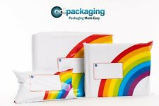 Printed Rainbow Mailing Bags Strong Self Seal Strip