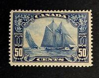 "Canadian Stamps, Scott #158 50c 1929 Schooner ""Bluenose"" M/VLH. Fresh"