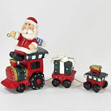 "Midwest of Cannon Falls Eddie Walker Santa Train Set 5"" Ornament Figurine"