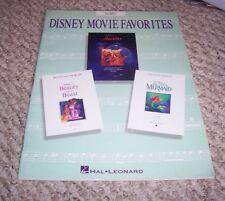 1994 Walt Disney Movie Favorites Songbook 14 Songs Aladdin Little Mermaid Beast