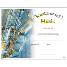 Certificate of Music, Pack of 15