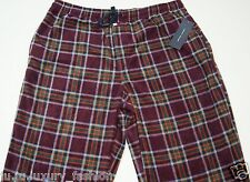 Tommy Hilfiger hombre Pijama de casa franela cuadros Pants L 36-38 Rojo Burdeos